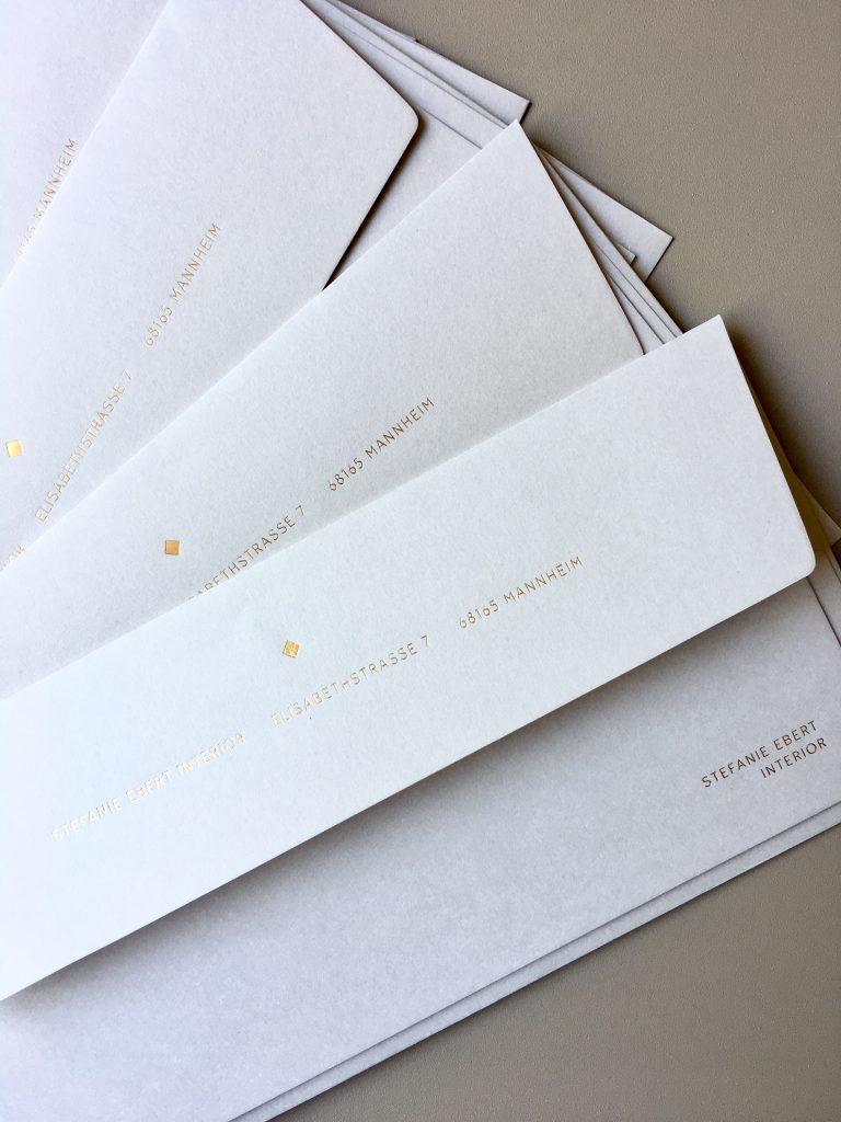 Gmund Kuvert Heißfolienprägung Hülle