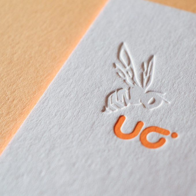 Letterpress Druckerei Blindprägung Pantone Tiefprägung