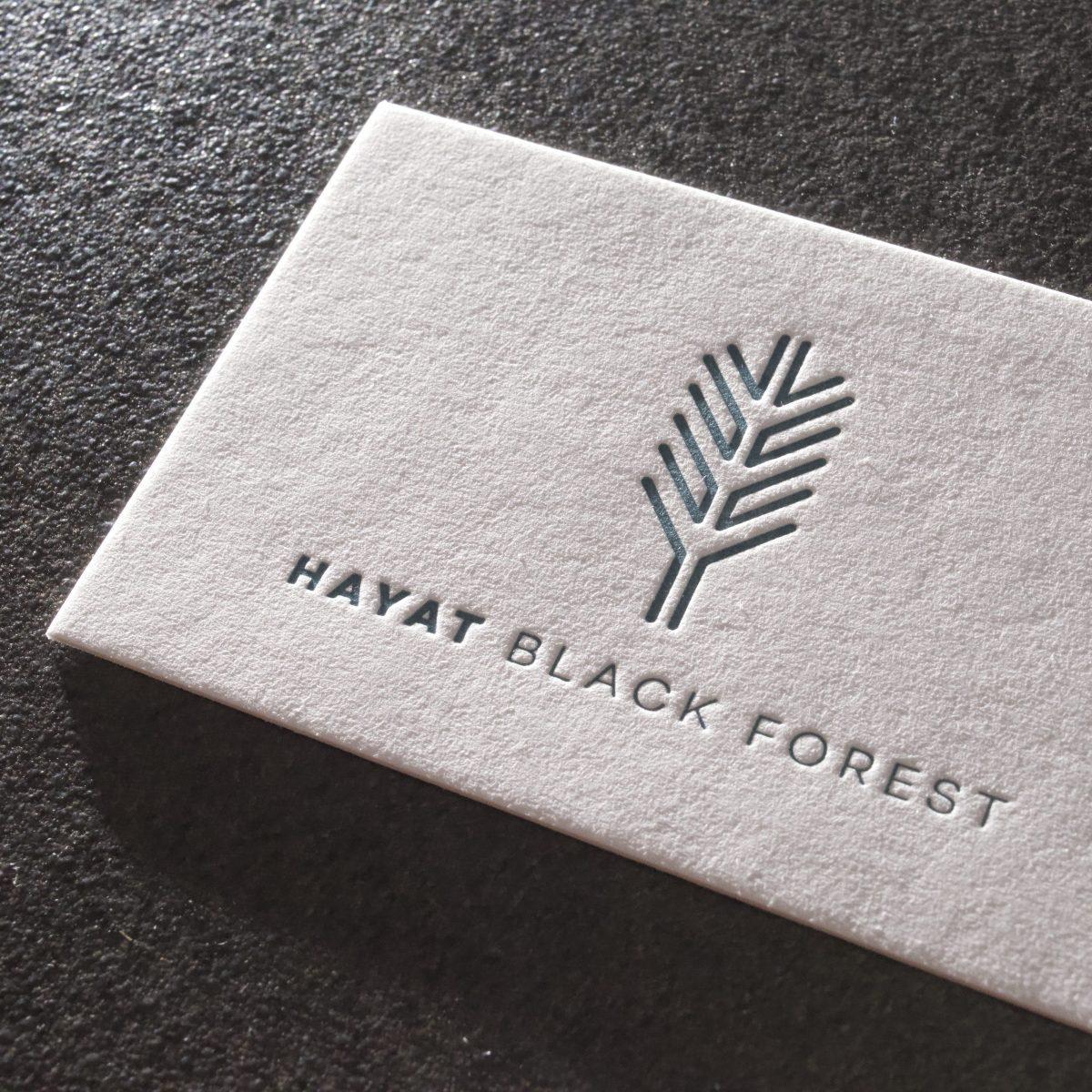 Visitenkarten Letterpress Verfahren Hayat Gmund Cotton Pantone